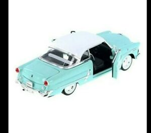 1953 Ford Victoria Welly1:25 Die Cast Metal Car Glacier Blue Open Doors Boot Box