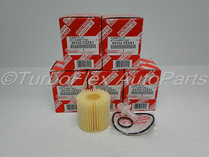 Toyota Scion Lexus Genuine OEM Oil Filter 04152-YZZA1 Set of 5