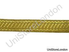 Braid Gold mylar 25mm Rank marking Lace Trim Light Weight R1378