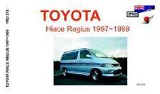 Toyota Hiace Regius 1997-1999 Owner's Handbook by JPNZ Int Ltd