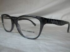 DOLCE & GABBANA D&G EYEGLASS FRAME DG3136 1861 GRAY LEOPARD 53MM NEW AUTHENT