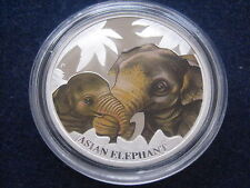 "MDS Tuvalu 50 cents 2014 PP/PROOF ""Asian Elephant"", argent"