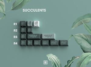 GMK Botanical Succulents (Novelties) Kit Doubleshot Keycap Keyset SEALED
