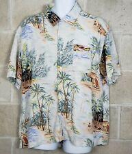 Tommy Hilfiger Mens Hawaiian Shirt Button Up Camp Shirt Aloha Size XL
