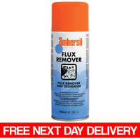 Ambersil Flux Remover 400ml PCB Cleaner Degreaser DELICATE ELECTRONICS 30216-AB