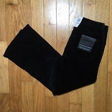 Calvin Klein Strech Bootcut Black Corduroy Pants 6 x 32
