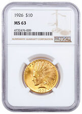 1926 Indian Head With Motto $10 Gold Eagle NGC MS63 SKU61001