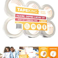 Tape King Clear Packing Tape 60 Yards Per Roll 6 Refill Rolls 2 Inch Wi