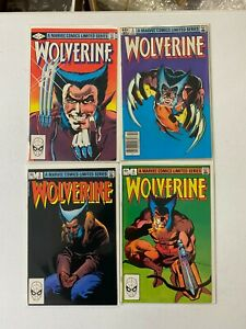 X-Men Comic Lot  wolverine 1-4 1982 vf+/nm bagged boarded