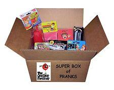 SUPER BOX OF PRANKS - Hand Buzzer Whoopee Cushion Itch Powder Jokes Gags Fun