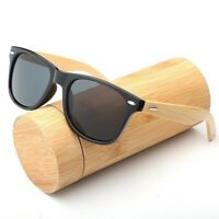 Men Summer Sunglasses Polarized Sports Driving Wooden Sun Glasses Mirrored Case