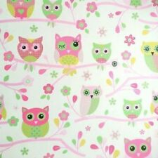 PINK OWLS FLOWERS CHILDRENS GIRLS BEDROOM NURSERY FEATURE WALLPAPER DEBONA 6327