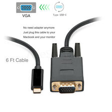 6 feet/2m USB 3.1 Type C  Male to VGA Video Adapter Transfer Converter Cable