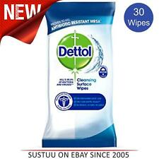 Dettol Anti-Bac Cleansing Surface Large 30 Wipes Pack│No Bleach Taint & Odour