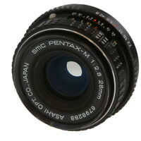 Pentax 28mm F/2.8 SMC M K Mount Manual Focus Lens Black {49} **AI**