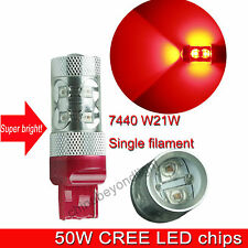 Clearance sales : 7440 W21W 50W red CAR LED Tail backup turning reversing light