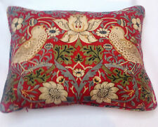William Morris Strawberry Thief Crimson Slate Pair Of  Cushion Covers inc inners