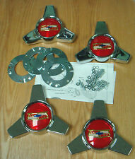 1957 CHEVY BELAIR WHEEL COVER SPINNERS with Hardware ** USA MADE **