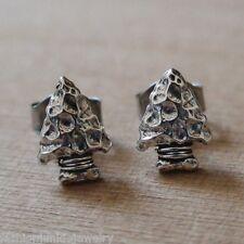 Arrowhead Earrings - 925 Sterling Silver - Arrows Archery Spear Hunting Caveman