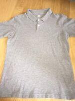 Old Navy Boys 2 Button Gray Polo Shirt Size XL 14/16