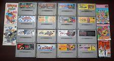 Super Famicom 16 SFC game lots Donkey Kong 1 2 3 Mario Kirby Gradius 3 SD Gundam