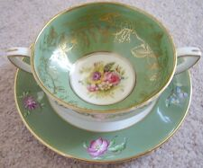 Royal Worcester England Porcelain -china soup cup-bowl and saucer,Elegant
