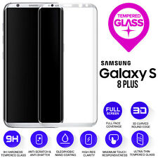 Samsung Galaxy S8 PLUS 3D Full Curved Tempered Glass Screen Protection Silver