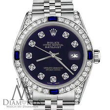 Rolex 26mm Datejust Purple Color Dial with Sapphire & Diamond Watch