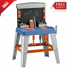Boys Toy Workbench Set Tools and Bench Kids Childrens 35PC Tool Kit Repair Stand