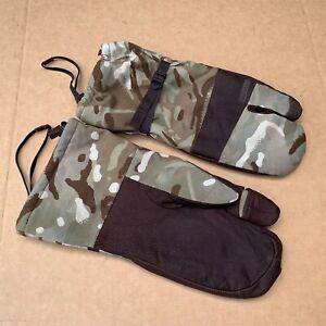 British Army Surplus W+R MTP Blizzard Gloves Leather Palmed Gore-Tex ECW Mittens