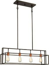 Nuvo Lighting 60/5854 Lake Island Light Bronze and Copper Accents