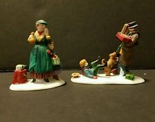"Dept 56 Heritage Village Collection ""DON'T DROP THE PRESENTS"" #5532-8 set of 2"