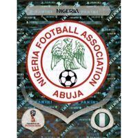 Panini WM 2018 332 Nigerien Nigeria World Cup WC 18Wappen Logo Glitzer Foil