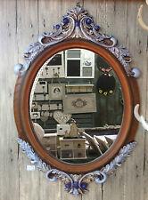 Antik Holz Wandspiegel Spiegel 80 cm Garderobenspiegel 18-6 Barock Flurspiegel