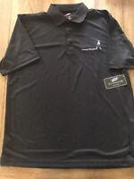 Ultra Club Men's Black Golf Shirt W/ Johnnie Walker Logo  Size Large - NWT