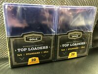 50 Cardboard Gold  3x4 plastic TOPLOADERS 2 Packs Of 25 CT CBG Top Loads