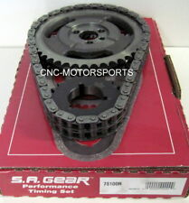 SA GEAR 78100R 250 DOUBLE ROLLER TIMING CHAIN SET 3 KEYWAY SB CHEVY 350 400