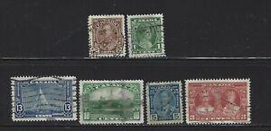 Canada 1935 Silver Jubilee  Used VF Set #211-216 $18