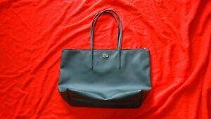 LACOSTE WOMEN'S totebag tote handbag green purse