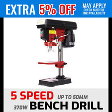 370W Bench Drill Press Mounted 5 Speed Chuck Guard 1.5-13mm Metalwork Carpentry
