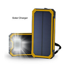 Solar Charger Power Bank Portable 15000mAh Outdoor External Battery Pack Yellow