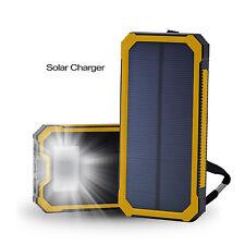 Solar Charger Power Bank Portable 15000mAh Outdoor External Battery Pack Yellow