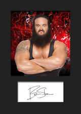 BRAUN STROWMAN #1 (WWE) Signed (Reprint) Photo A5 Mounted Print - FREE DELIVERY