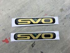 SVO Front Fender Guard Badge x 2 suit EA EB EL EF AU Ford Falcon/XR/Tickford