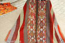 Ca1900s 3'8''x4'9'' Tribal Camel Bag Chuval Sumak Embroidered Panels Rug