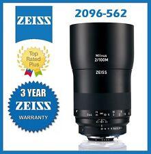Pre-Order Zeiss Milvus 100mm f/2M ZF.2 Lens for Nikon F Mfr # 2096-562