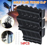 14Pcs Golf Bag Club Organizer Clip Holder Set For All Wedge Iron Driver Putter