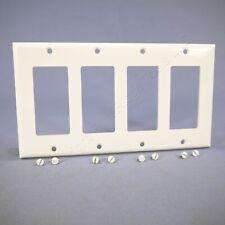 Eagle White Standard Decorator 4-Gang Thermoset Wallplate GFCI GFI Cover 2164W