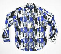 Blue Sz M-3XL $178 New Robert Graham Triple Crown Classic Fit Sport Shirt Lt