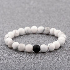 2018 Natural Stone White Howlite Beads Women Men's Bracelets Charm Jewelry Gifts